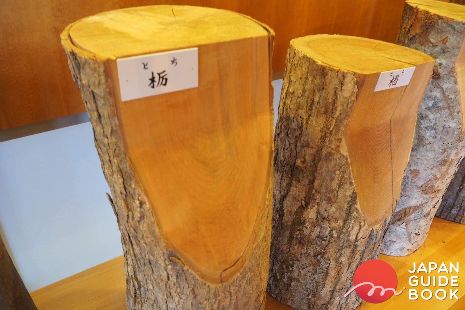 ไม้หน้าตัดของไม้ชนิดต่าง ๆ