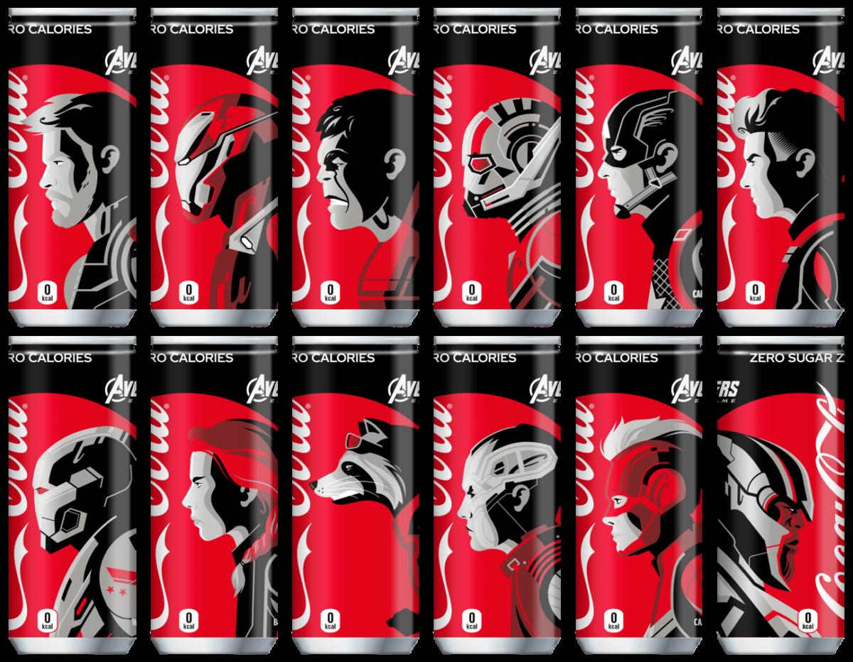 "Coca-Cola Zero ""Avengers / End Game "" รุ่นลิมิเต็ด!! มีให้สะสมทั้งหมด 12 แบบ"