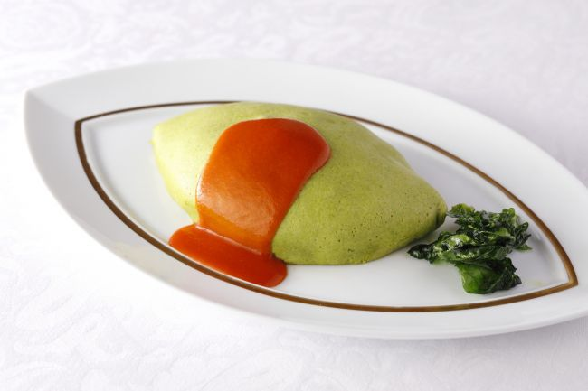 """""""ข้าวห่อไข่สีเขียว"""" เมนูใหม่จากร้าน Shiseido Parlour สาขากินซ่า"""