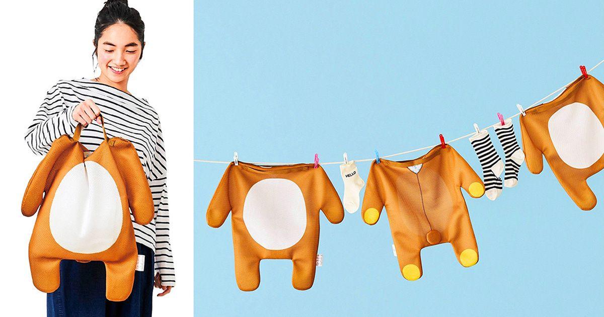 ซักผ้าเเบบมุ้งมิ้ง!! กับตาข่ายซักดีไซน์ชุดเสื้อผ้า Rilakuma