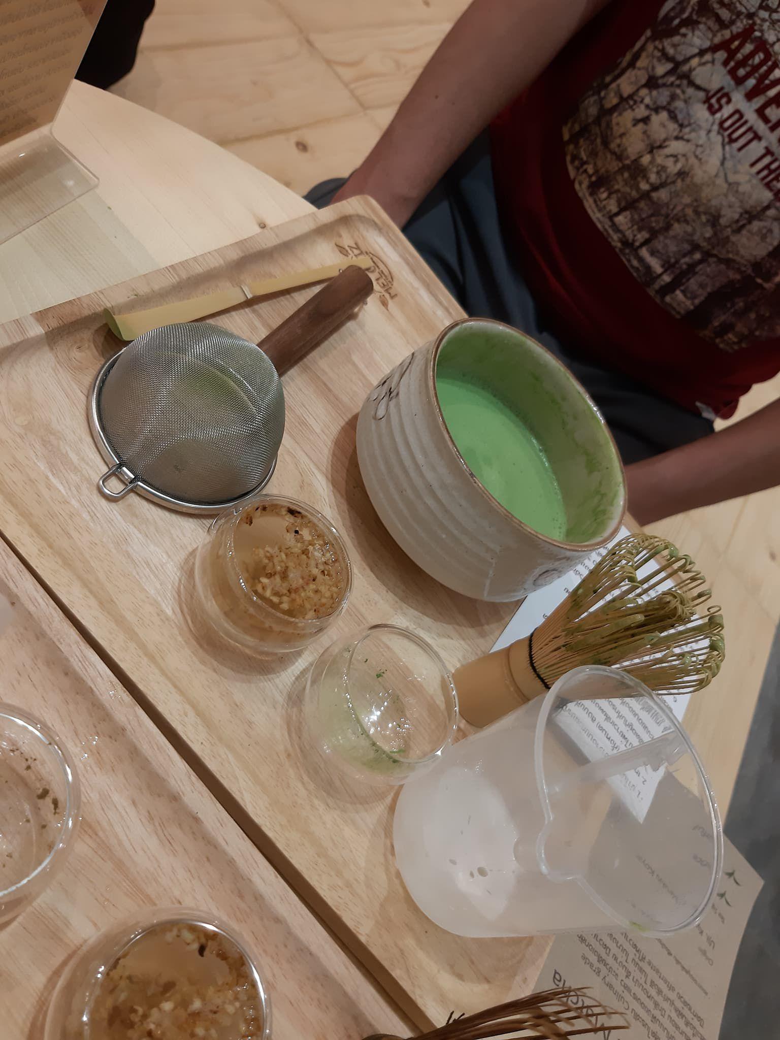 ชงชาเขียวเอง ที่ร้าน Meloliz@paradise Park