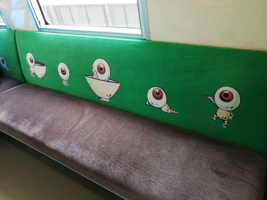 รถไฟตกแต่งด้วยการ์ตูนผีน้อยคิทาโร่
