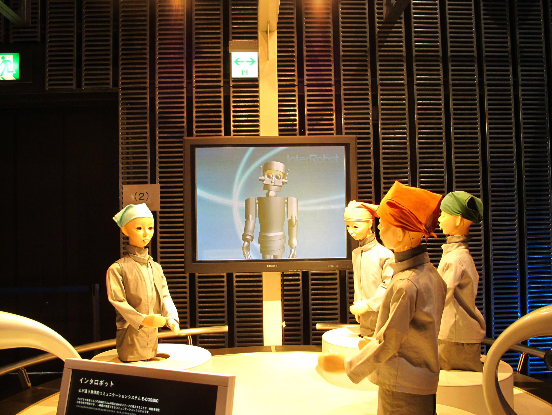 หุ่นยนต์ในพิพิธภัณฑ์วิทยาศาสตร์ มิไรคัง (Miraikan)