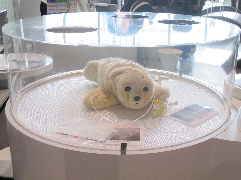 หุ่นจำลองแมวน้ำ พิพิธภัณฑ์วิทยาศาสตร์ มิไรคัง (Miraikan)