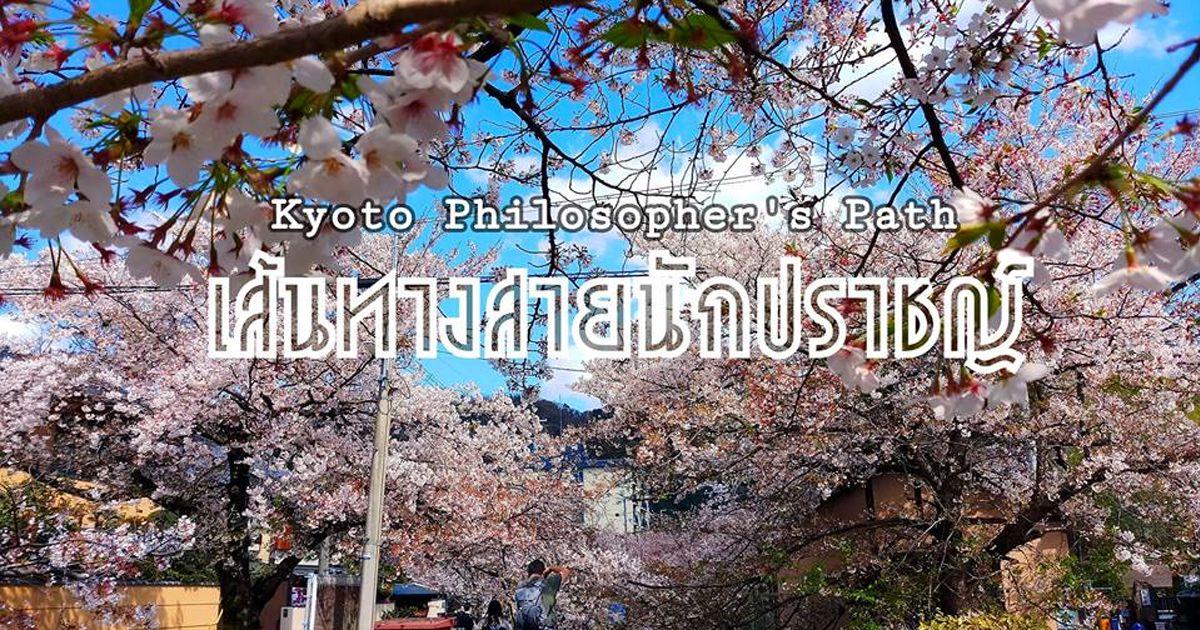 เส้นทางสายนักปราชญ์ (Philosopher's Path) ถือเป็น landmark หรือจุดชมซากุระที่สวยที่สุดแห่งหนึ่งของเมืองเกียวโต