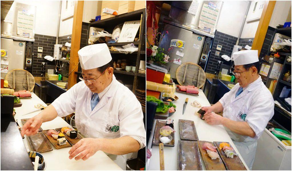 ร้านเอ็นโดซูชิ (Endo sushi) ร้านซูชิตำรับโอซาก้า ที่ตลาดปลาโอซาก้า บอกเซฟได้เลยจะกินอะไร