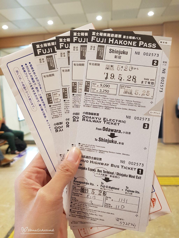 รีวิว Fuji Hakone Pass 3 วัน และการใช้แบบละเอียด