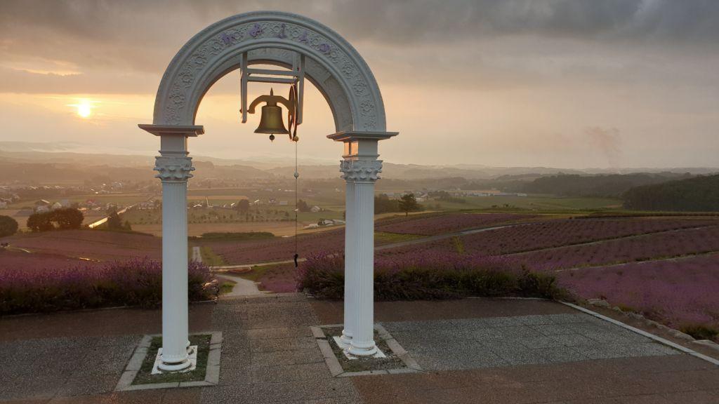 จุดชมวิว ตีระฆังที่สวนฮิโนเดะHinode Park Lavender Garden