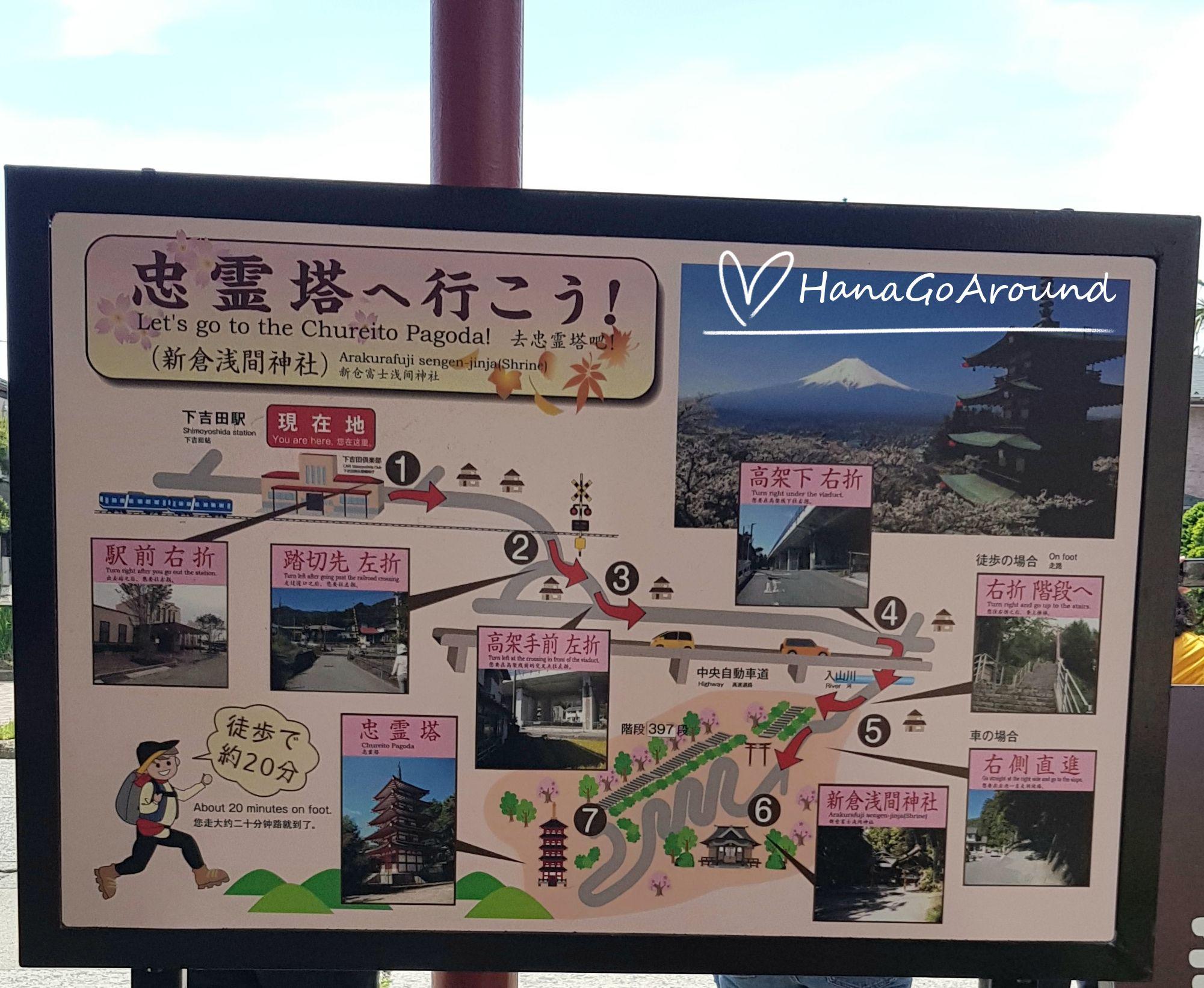 การเดินทางไปเจดีย์ชูเรโต (Chureito Pagoda) ที่เมืองฟูจิชิโยดะ (Fujishiyoda)ในจังหวัดยามานาชิ (Yamanashi)
