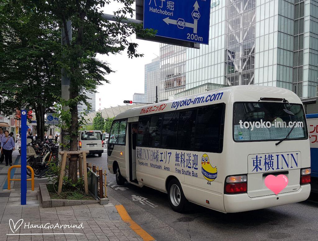 รถ Shuttle Bus ของโรงแรม Toyoko Inn