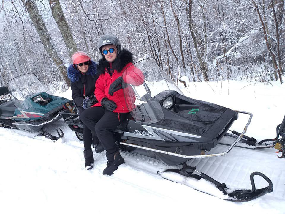 เล่น snowmobile ครั้งแรกที่ฮอกไกโด