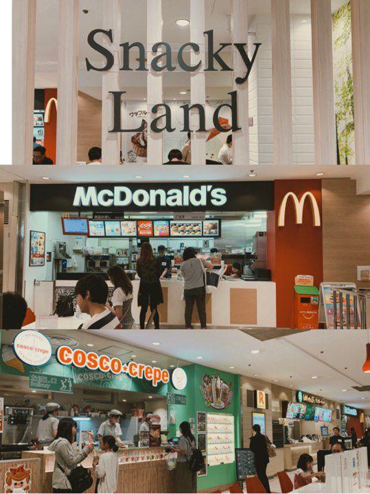 ร้านอาหารภายในห้างสรรพสินค้าใกล้ๆ บริเวณจุดจอดรถ Kyoto Bus