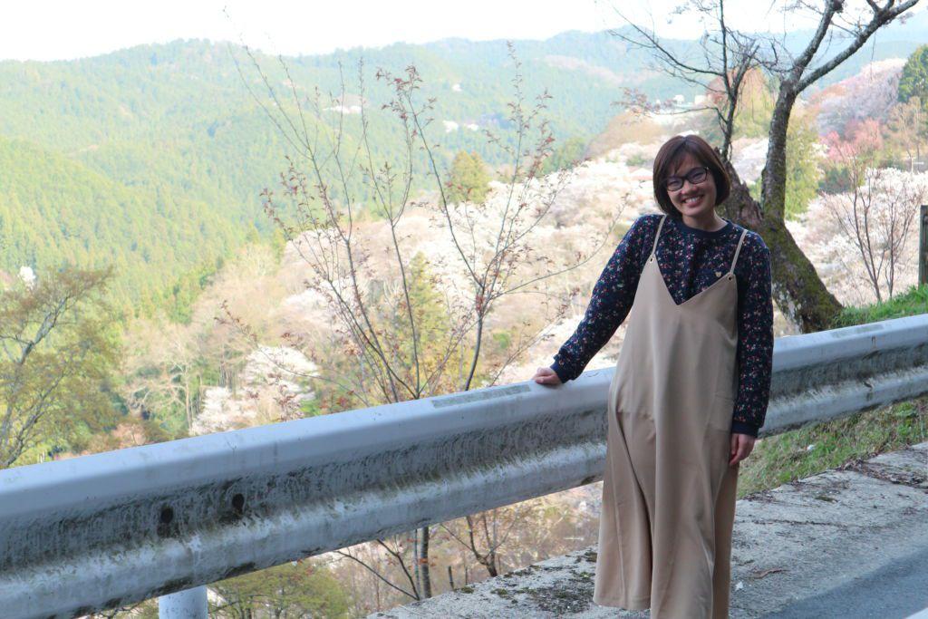 ดอกซากุระบานที่ภูเขาโยชิโนะ ในภูมิภาคคันไซ
