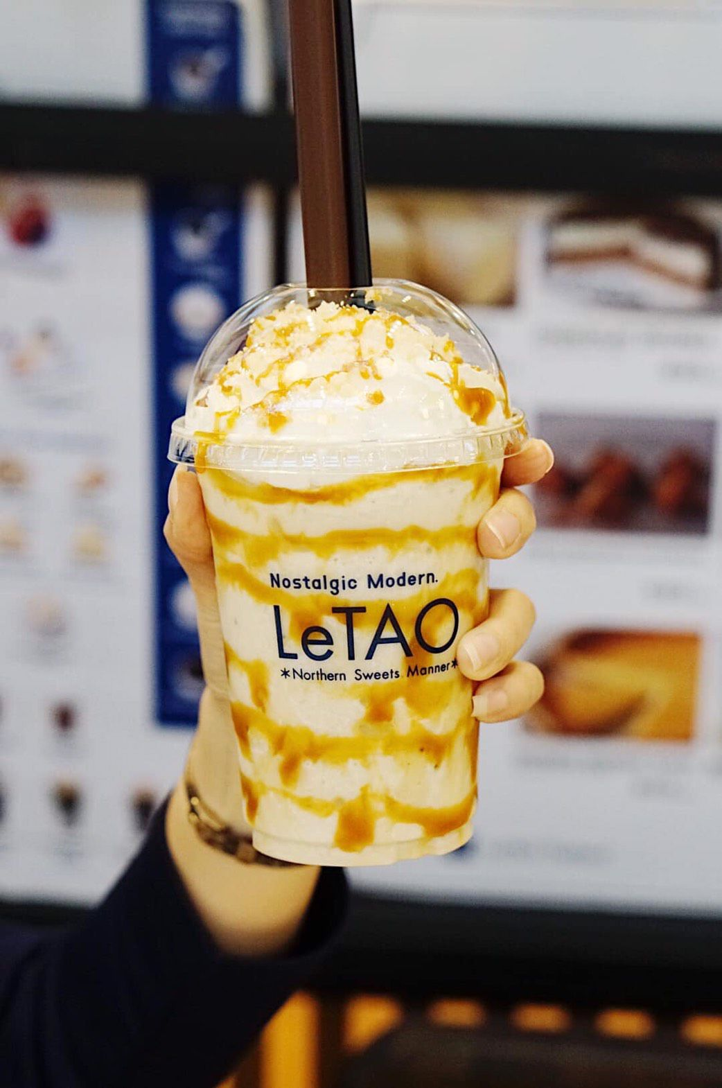 เครื่องดื่ม กล้วย ครัมเบิ้ล จากญี่ปุ่น LeTAO Cafe Thailand