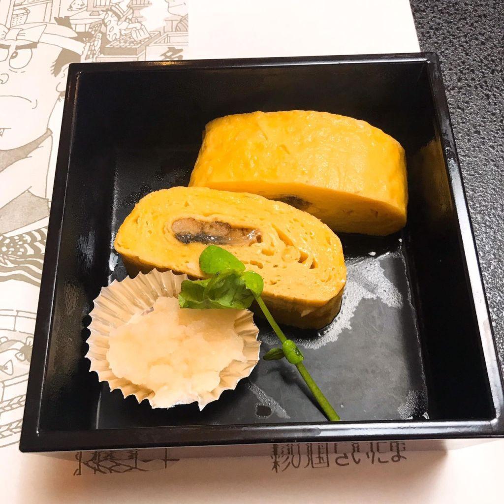 เมนูไข่หวานไส้ปลาไหลของร้าน Ichinoya