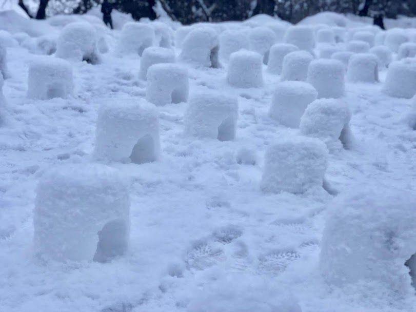เทศกาลโยโคเตะคามาคูระ(Yokote Kamakura Festival) ในอะคิตะ (akita) การสร้างกระท่อมน้ำแข็งที่เรียกว่า คามาคูระ(kamakura)