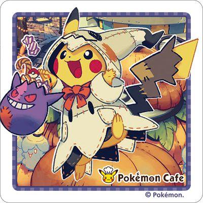 แผ่นรองแก้ว Pokemon Cafe