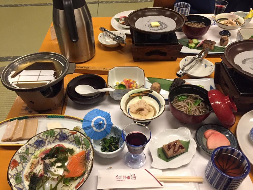 อาหารเย็นเรียวกังชิราคาวาโกะ โนะ ยู (Shirakawago no Yu)