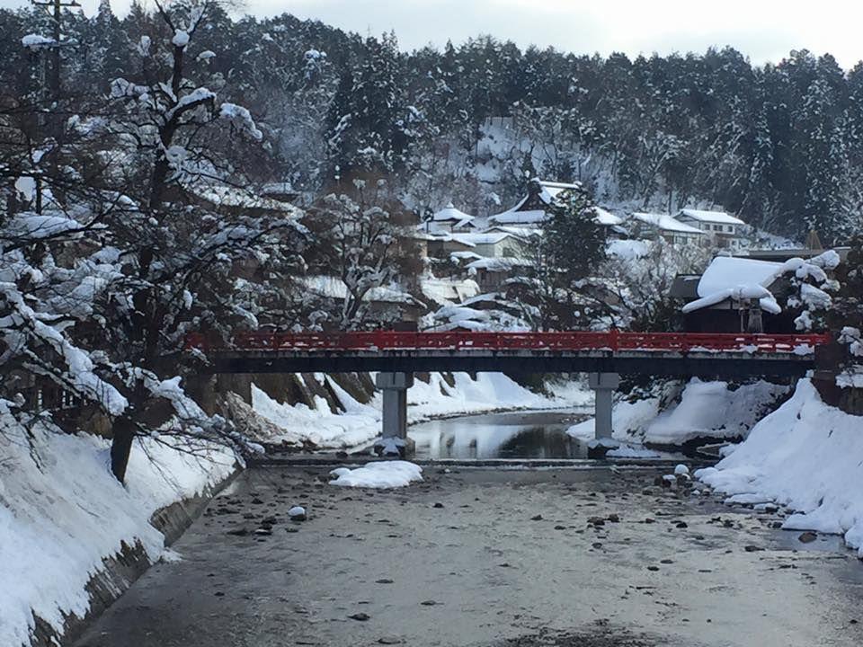 สะพานแดงนากาบาชิ เมืองทาคายาม่า จังหวัดกิฟุ