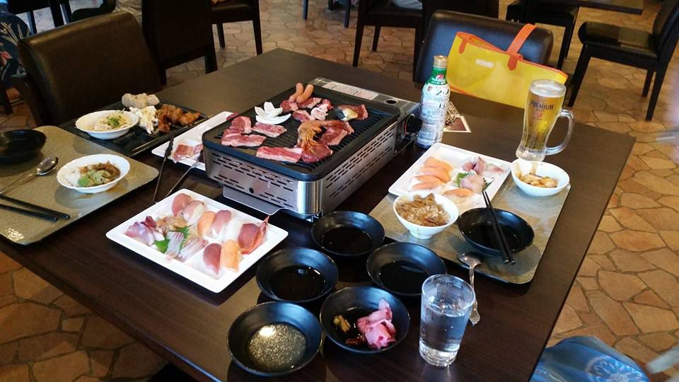 อาหารบุฟเฟ่ต์ โรงแรม Ranpu เมืองฮิราโดะ