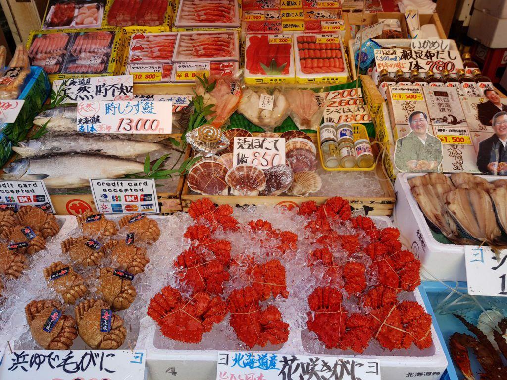 ตลาดเช้าฮาโกดาเตะ Hakodate Morning Market ที่Hokkaido