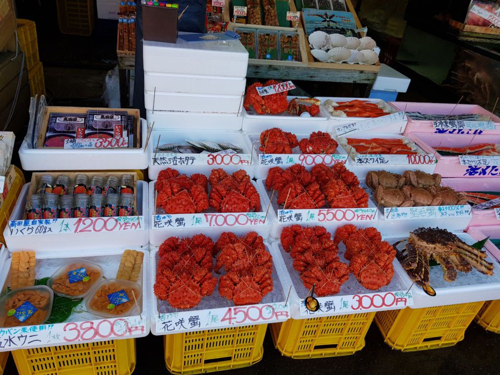 อาหารทะเล ตลาดเช้าฮาโกดาเตะ Hakodate Morning Market ที่Hokkaido