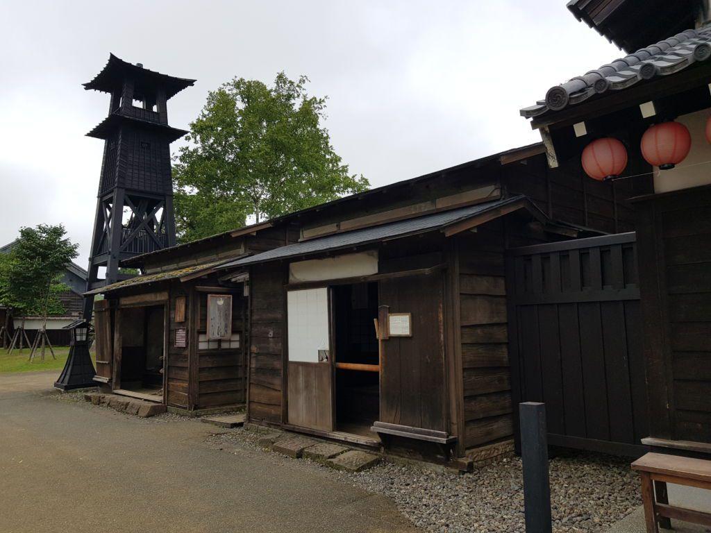 หอเฝ้าระวังไฟไหม้ หมู่บ้านนินจาดาเตะจิไดมุระ โนโบริเบทสึ (Noboribetsu Hokkaido)