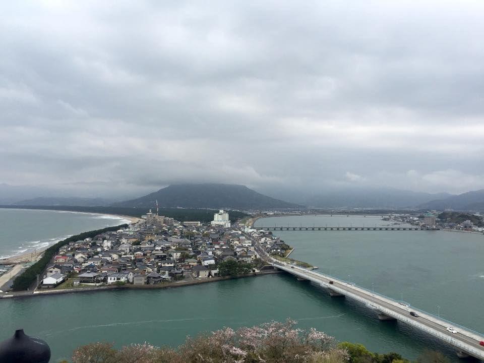 วิวเมืองคาราสึ จากปราสาทคาราสึ บนเกาะคิวชู จังหวัดซากะ