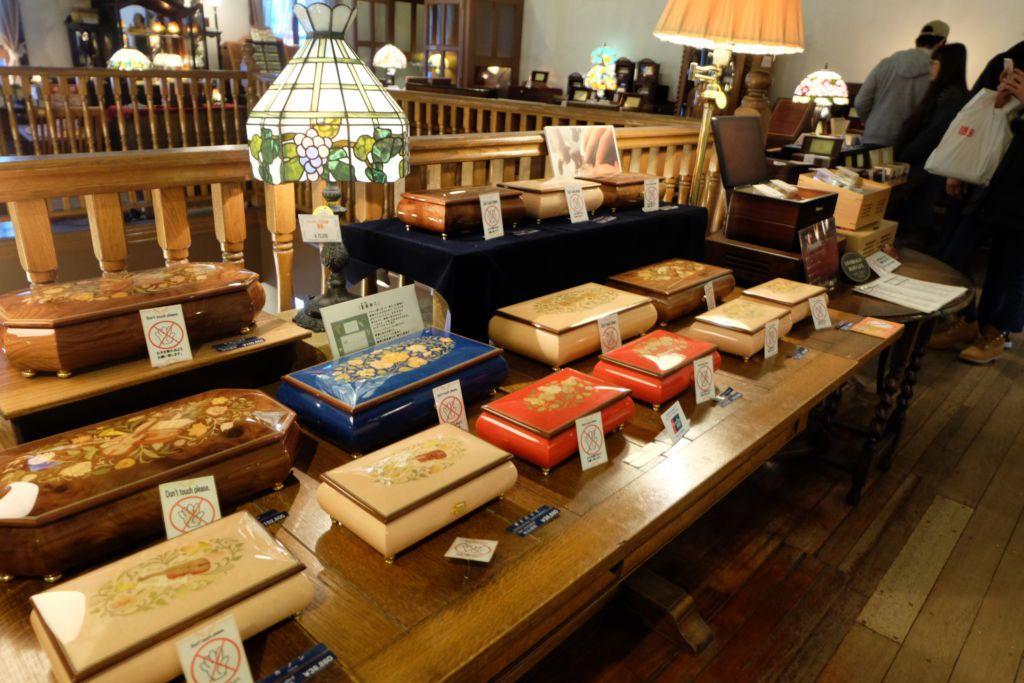 การจัดแสดงกล่องดนตรี ที่พิพิธภัณฑ์กล่องดนตรี Otaru Music Box Museum ฮอกไกโด