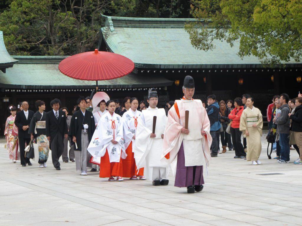 พิธีแต่งงานดั้งเดิม วัดเมจิ ย่านฮาราจูกุ โตเกียว