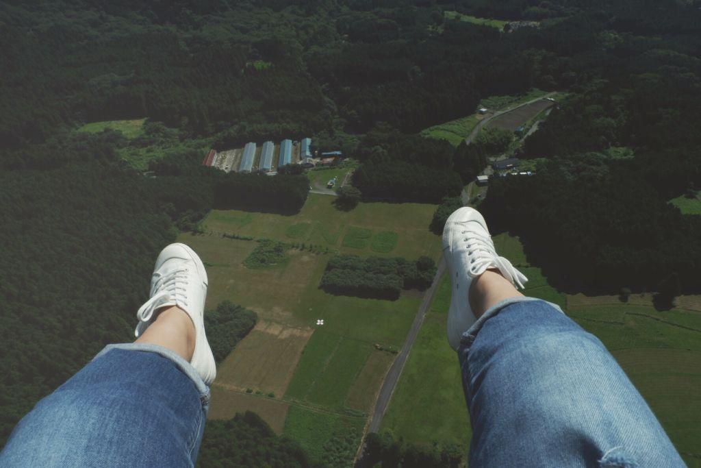 Paragliding ชมวิวภูเขาไฟฟูจิ ที่ Fujinomiya Shizuoka