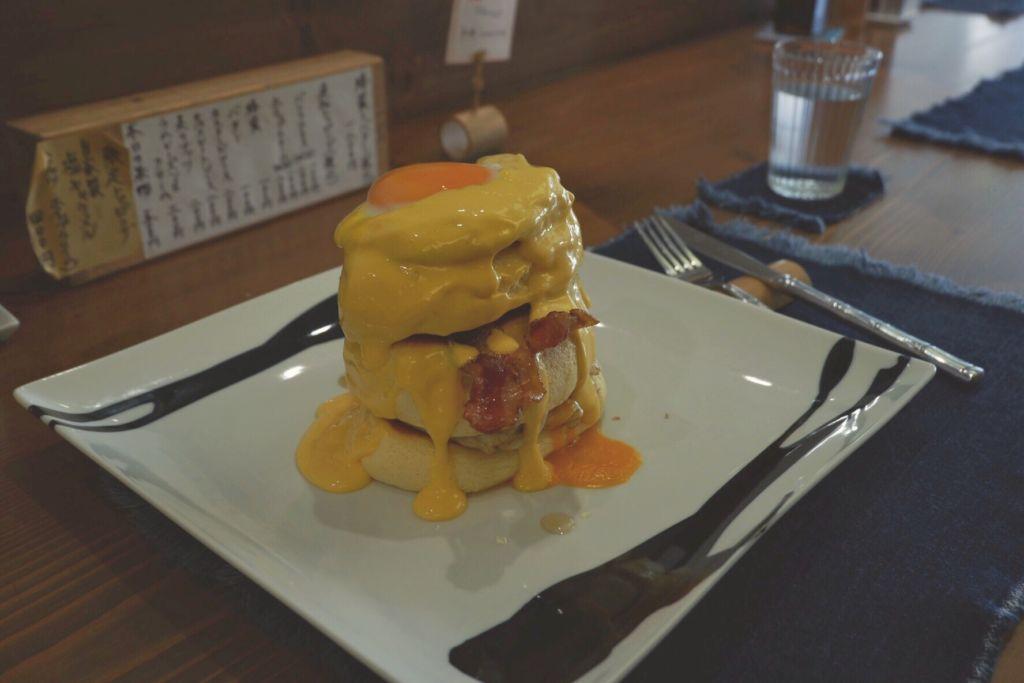 แพนเค้กฟู Bacon and Egg ร้าน Benitsuru Asakusa Tokyo