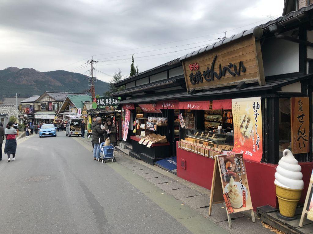 ถนนคนเดิน Yunotsubo Kaido Shopping Street เมืองยูฟุอิน (Yufuin)