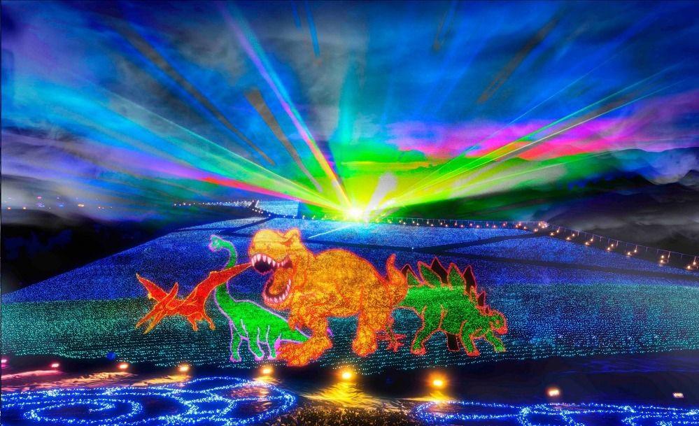 แนะนำสถานที่ชม Illumination ไฟประดับหลากสีสัน พร้อมชมแสงออโรร่าและไดโนเสาร์สุดอลัง ที่จังหวัดฟุกุอิ