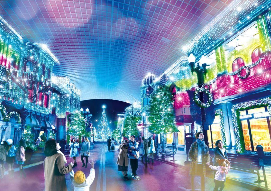"Universal Studios Japan จัดแสดง ""Universal Crystal Christmas"""