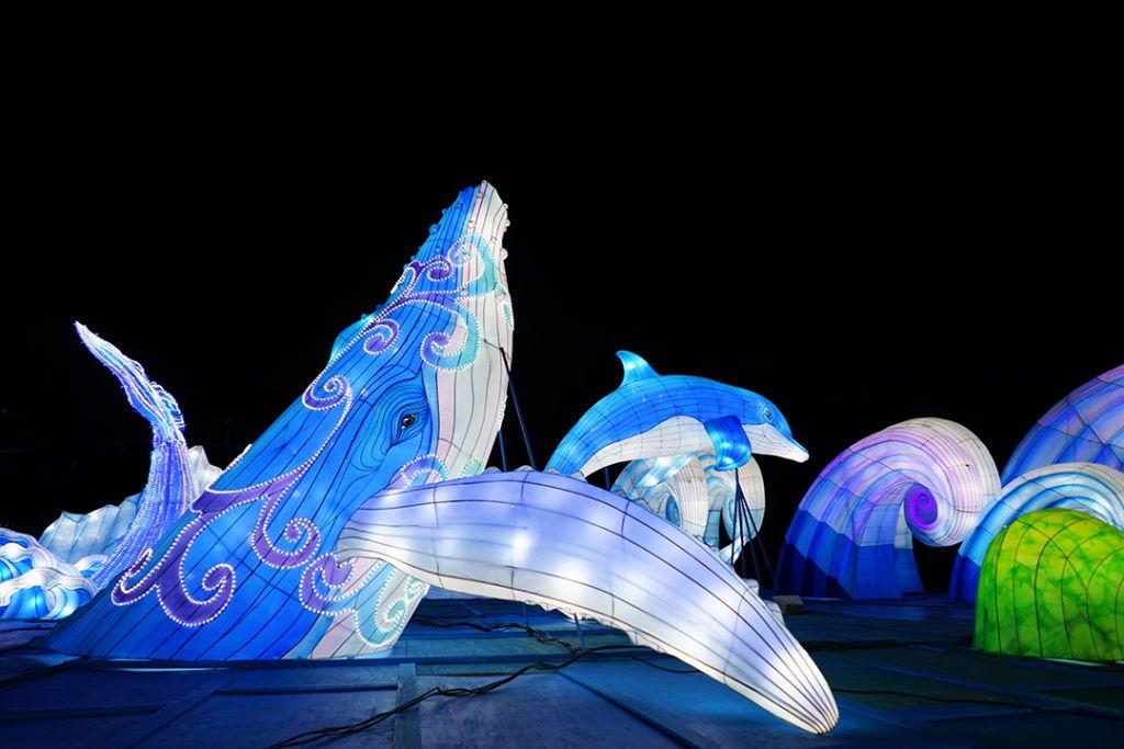 โคมไฟยักษ์ ปลาโลมา เพนกวิน และหมีขั้วโลก ที่ Hakkeijima Sea Paradise