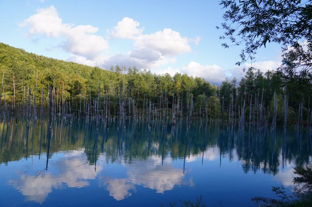 Blue pond ฮอกไกโด