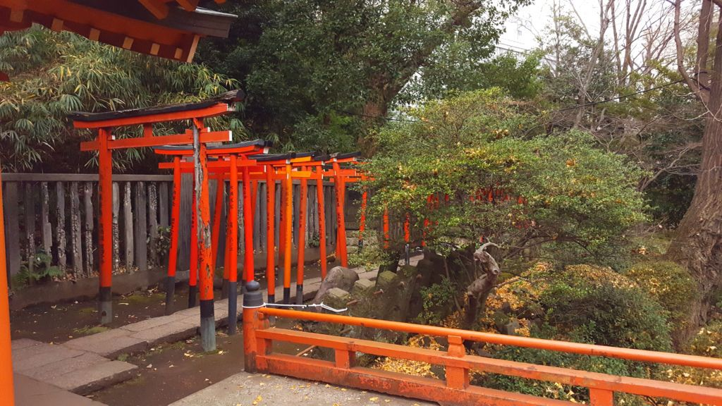 เสาโทริอิที่ศาลเจ้าเนซุ (Nezu Shrine)