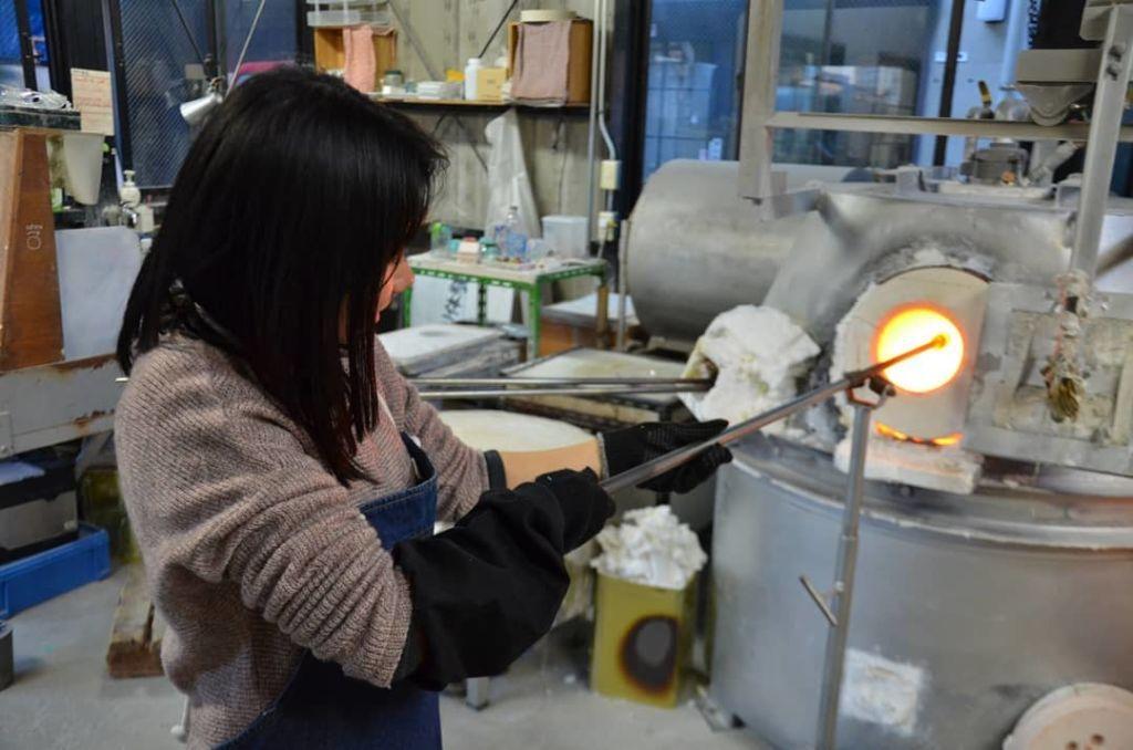 การเรียนศิลปะการทำแก้ว ในเมืองคาวาโกเอะ (Kawagoe)