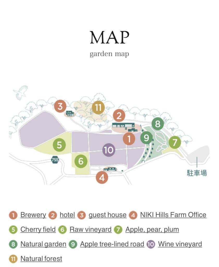 แผนที่ Niki Hills Winery ฮอกไกโด