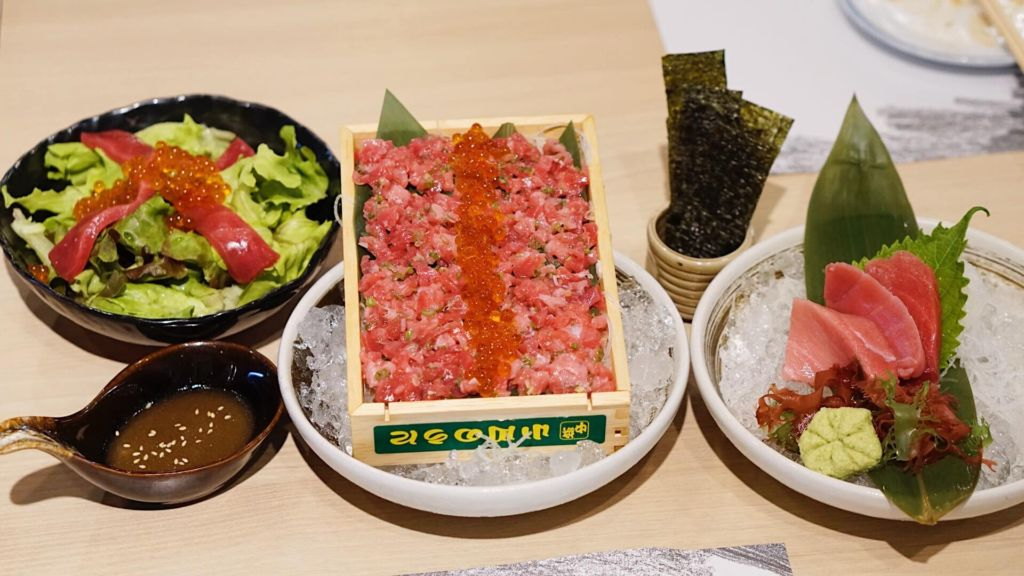 Maguro Trio Set B Shiso Homu ร้านอาหารญี่ปุ่นย่านรามอินทรา