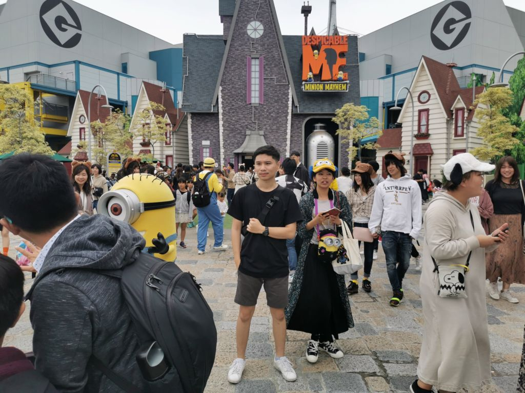 เครื่องเล่น Despicable Me Minion Mayhem ที่ Universal Studios Japan
