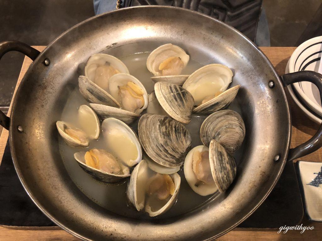 amaguri steamed in sake หอยในซุปสาเก ร้านซีฟู๊ดเปิดตลอด 24 ชั่วโมงIsomaru Suisan