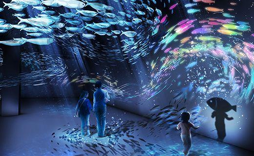 นิทรรศการดิจิทัลอาร์ตใต้ท้องทะเล BY NAKED ครั้งแรกในญี่ปุ่น