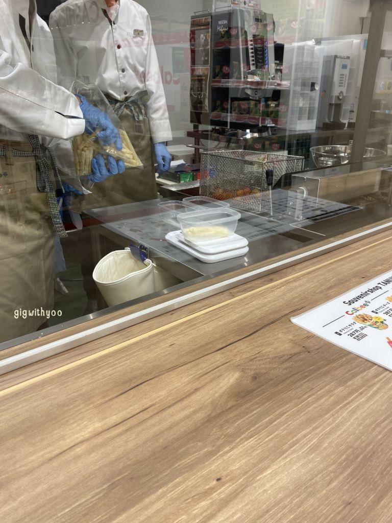 ร้านCalbee Plus สาขาถนนช้อปปิ้งTanukikoji ย่านซัปโปโร