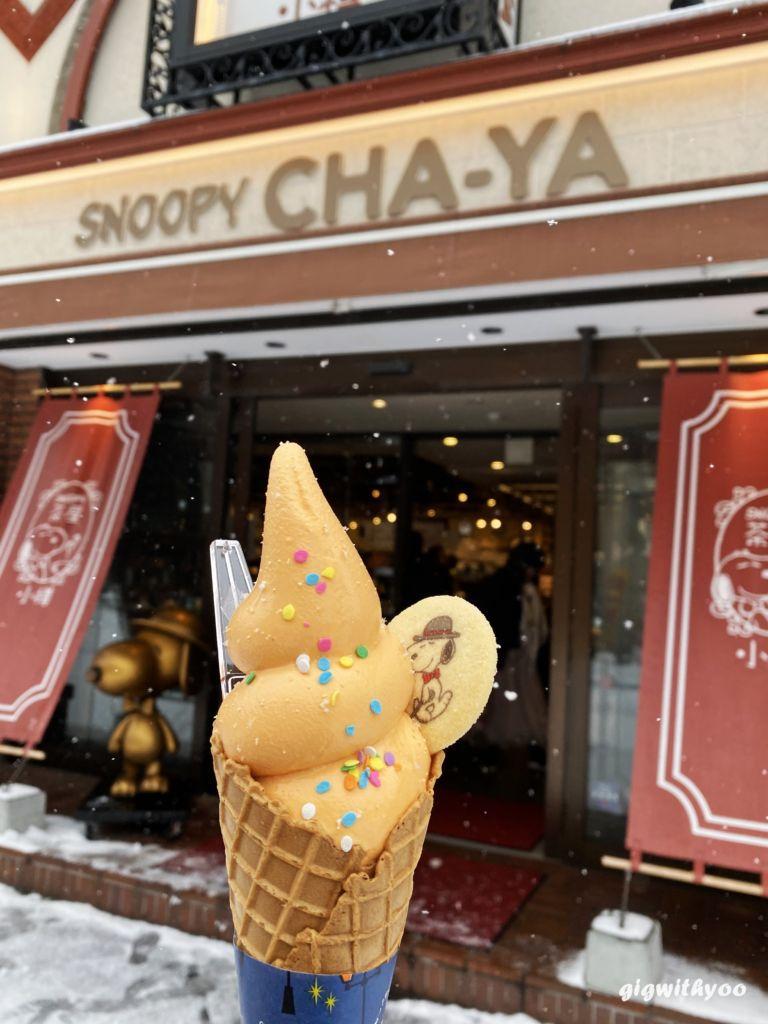 เมนูคาเฟ่ Snoopy Chaya Otaru