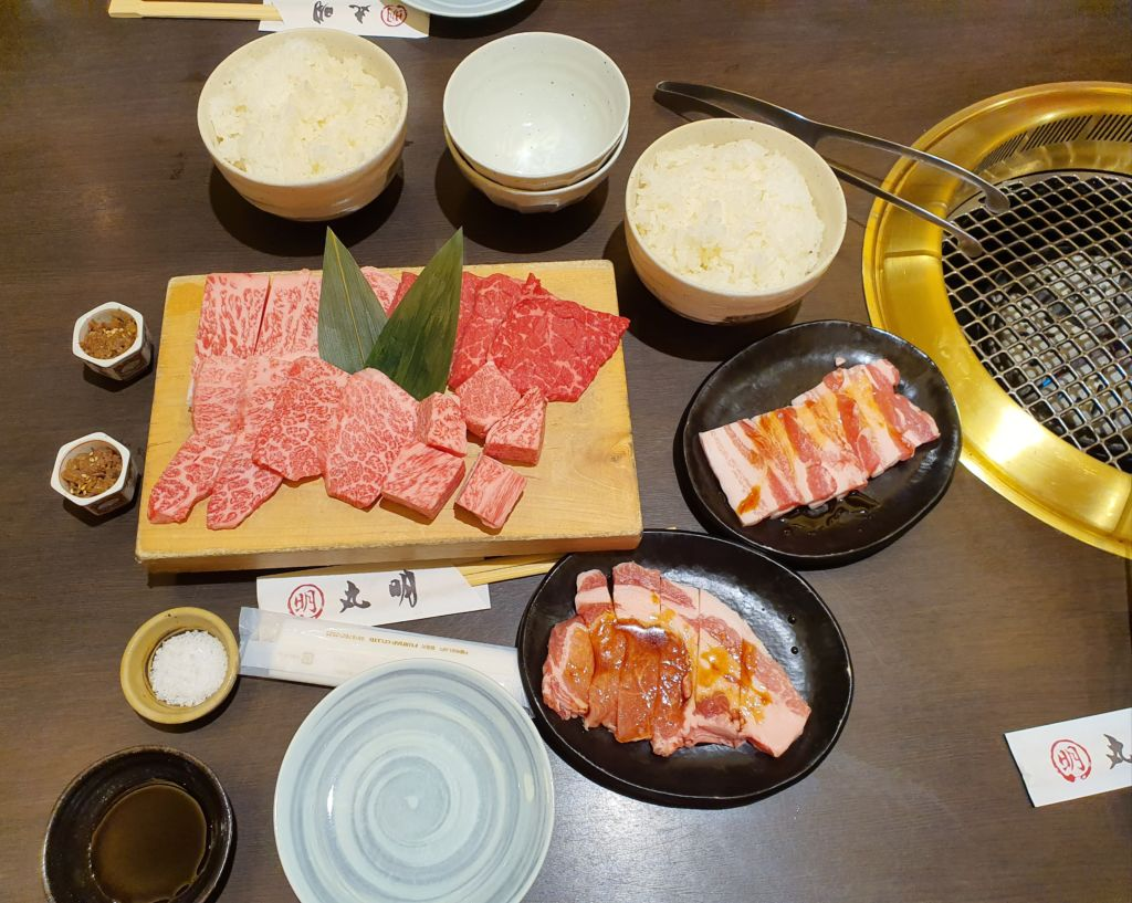 เนื้อฮิดะA5 ที่ร้าน Maruaki Yasugawa