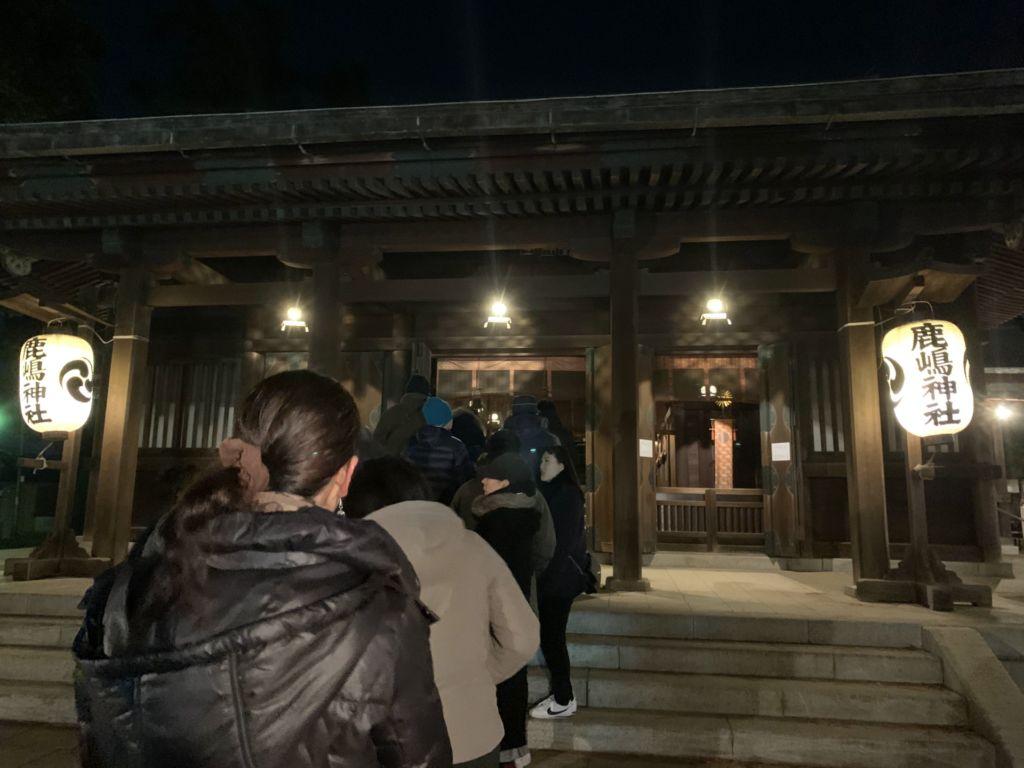 ขอพรมงคลกันที่ศาลเจ้าคาชิมะจินกุ