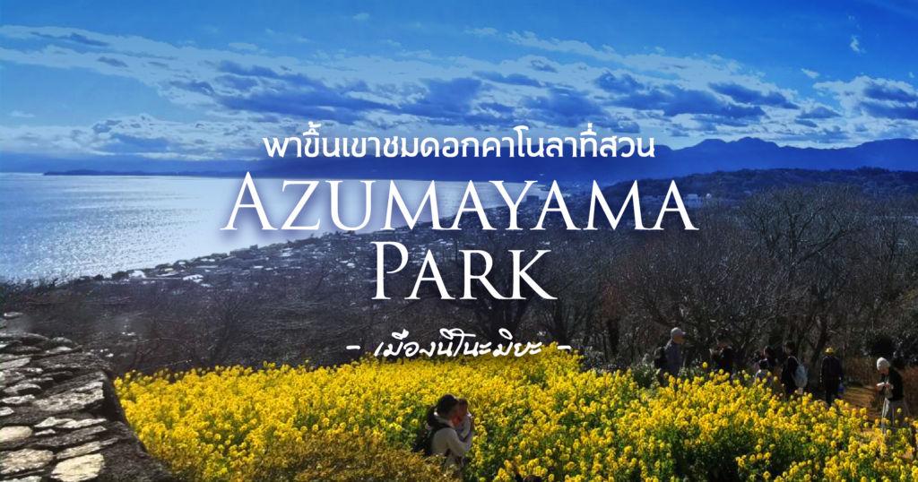 พาขึ้นเขาชมดอกคาโนลาที่สวนAzumayama Park เมืองนิโนะมิยะ